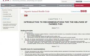 OIE 水生動物衛生規約 養殖魚の福祉