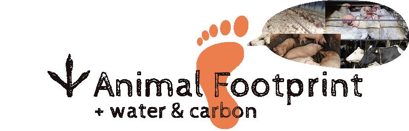 animal footprint water footprint carbon footprint